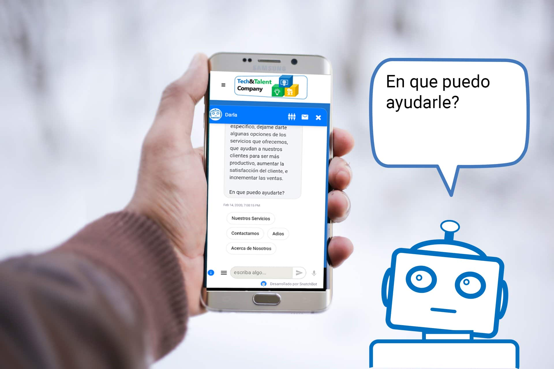 smartphone-chatbot